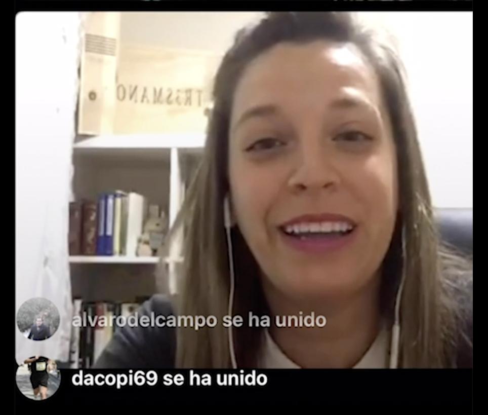 Marta Escribano nos cuenta su experiencia de pertenecer al Club Milla en los directos de instagram IGTV